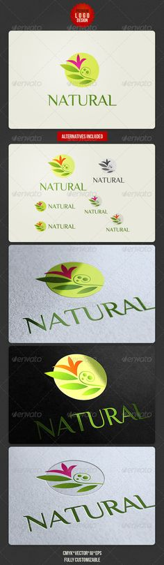 Clean Natural Logo Design - http://graphicriver.net/item/clean-natural-logo-design/3477777?ref=cruzine