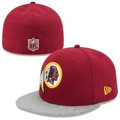 3b8c42b1f88 Mens New Era Burgundy Washington Redskins 2014 NFL Draft 59FIFTY Reflective  Fitted Hat Redskins Hat