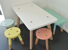 Mini Babanees Package Stools: Glass, Lemon, Coral Blossom, Summertime