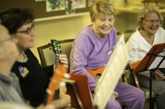 (l-r) Julie Hill, Phyllis Mangun, and Ivonne Vanderbilt of the Bell Trace Ukulele Club. Photo by Tyagan Miller