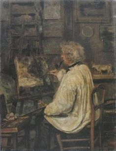 Camille Corot - Corot Painting in the Studio of his Friend, Painter Constant Dutilleux – 1871