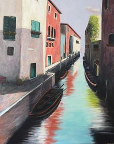 2016 Venice, 200x160cm Venice, Paintings, Paint, Venice Italy, Painting Art, Painting, Painted Canvas, Drawings, Grimm