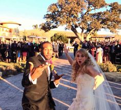 Congrats to the dancing newlyweds!