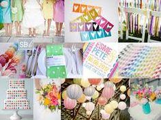 It's been a colourful day on SBB! Here's the latest in our week of inspiration boards, and this one was requested by bride-to-be Rita. She and her fiance are getting married in May, and… Pastel Colors, Colours, Pastels, Crazy Colour, Watercolor Wedding, Inspiration Boards, Popsicles, Dream Wedding, Wedding Dreams