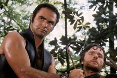 Burt Reynolds (Lewis) and Bill McKinney (Mountain Man) I Deliverance John Boorman Ronny Cox, James Dickey, John Boorman, 70s Films, Burt Reynolds, The Virginian, Great Movies, Picture Photo, Movies Online