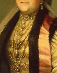 Portrait of Catherine II in the headdress
