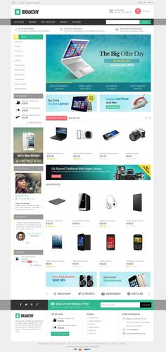 Branchy #Prestashop Responsive #Theme is designed for electronics, mobile, computer and multi purpose stores. Branchy Prestashop Responsive Theme is looking good with colors combination. All sub pages are customized. It is very nice with its clean and professional look. http://www.templatemela.com/branchy-prestashop-responsive-theme.html