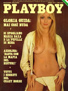 Playboy Italy April 197 with Gloria Guida on the cover of the magazine