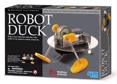 Robot Duck - Make a crazy robot that walks like a silly ducky! It's an awesome robotic science kit. $17.99