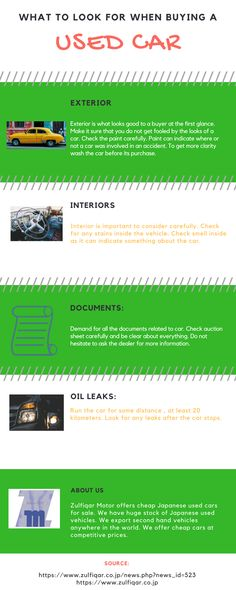 What Should You Do Before Buying A Used Car  – Infographic – uCollect Infographics