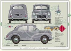 Classic Sports Cars, Classic Cars, Wooden Toy Cars, Car Prints, Morris Minor, Classic Mercedes, Car Posters, Model Train Layouts, Car Advertising