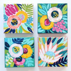 An Interview With Julie Marriott - Jenna Michelle Pink Acrylic Art, Acrylic Painting Canvas, Mini Paintings, Watercolor Paintings, Wall Paintings, Mini Toile, Mini Canvas Art, Art Plastique, Painting Inspiration