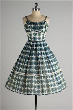 vintage 1950s dress #fashion