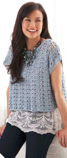 Casual Summer Top: Free Crochet Pattern ༺✿ƬⱤღ https://www.pinterest.com/teretegui/✿༻