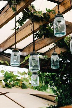 DIY lights with hanging mason jars // The Grounds of Alexandria Market — Joy Felicity Jane
