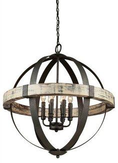 Laurel Foundry Modern Farmhouse Pearl 6-Light Candle-Style Chandelier - farmhouse lighting - fixer upper style - kitchen light - dining room light - rustic light - sponsored