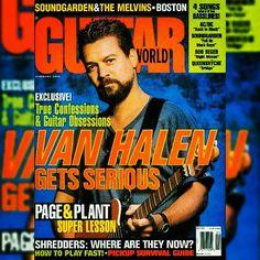 """EDDIE VAN HALEN'S 10TH COVER APPEARANCE FOR ▶GUITAR WORLD◀ MAGAZINE, FEBRUARY 1995!"" #evh #eddievanhalen #alexvanhalen #diamonddave #davidleeroth #michaelanthony #Vintage #Klassik #Classic #Rock #Music #History #1990s #1995 #GuitarWorld #Magazine #cover #ThrowBackThursday #TBT #vantastikhistory #Vantastik #VanHalen #vanhalenhistory"