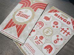 Bingo, A Meat Raffle And Letterpress — BeastPieces Custom Bingo Cards, Graphic Design Invitation, Graphic Projects, Branding, Brand Identity, Letterpress Printing, Party Invitations, Invites, Wedding Invitation