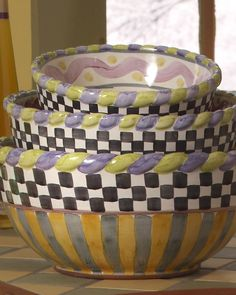"""""""Piccadilly"""" Mixing Bowls"""