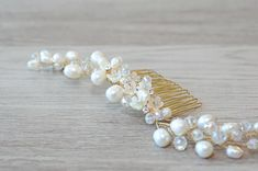 Freshwater Pearl Bridal Hair Comb pearl wedding comb pearl