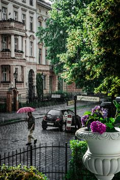 My motherland is calling me. Rainstorm in Germany