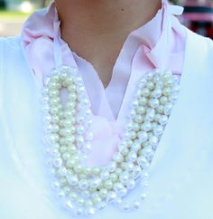 How to make a multi-strand pearl necklace
