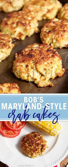 Transport yourself to the East Coast with Bob's Maryland-Style Crab Cakes! This take on traditional Maryland crab cakes tastes heavenly. and packs fewer calories because it's broiled instead of pan fried. These crab cakes call for few ingredients and hi Crab Cake Recipes, Fish Recipes, Seafood Recipes, Appetizer Recipes, Cooking Recipes, Lump Crab Meat Recipes, Appetizers, Kitchen, Seafood