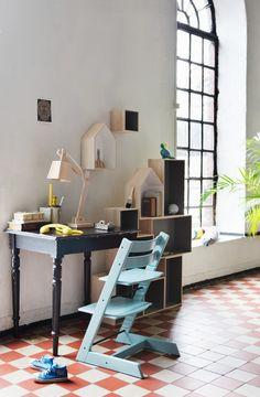 Tripp Trapp, la silla que crece con el niño - Decorabien.com #homeoffice #despacho #oficina #estudio en #casa #diseño #silla