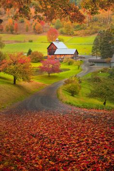 ~~The Iconic Look Of Autumn In Vermont ~ a barn on a rural road in New England in the fall by Kevin McNeal~~