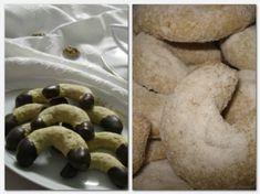 30 perc alatt elkészíthető Vaníliás kifli csokoládémázzal és Diós kiflicskék! My Recipes, Cookie Recipes, Croatian Recipes, Cake Cookies, Goodies, Gluten Free, Yummy Food, Sweets, Christmas Cakes