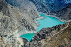 The amazing Amir Kabir Dam and its amazing emerald colour lake right next to Tehran in the mountains to the west Emerald Colour, Iran Pictures, Tehran Iran, Persian, Tourism, Landscapes, Mountains, Amazing, Water