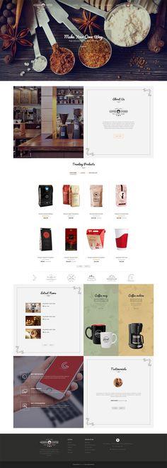 #Modern #Coffee #Gusto #Restaurant #Food #Bar #Drinks #Opencart Responsive #multipurpose Theme