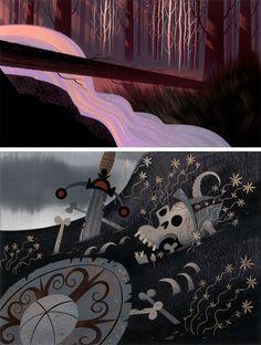 Cenários de Samurai Jack, por Scott Wills | THECAB - The Concept Art Blog