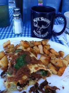 The Blue Moose. Great place for breakfast. Can't wait to go again!