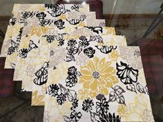 Placemats - NEW and Handmade BIG Floral Pattern - Cotton Home Decor Fabric