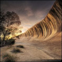 Wave Rock, Hyden, Western Australia :: HDR - great photo
