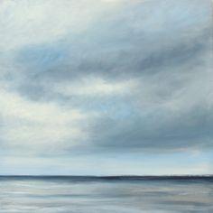 """Modern Series, Coastal Grey Oil on Canvas 24"""" x 24"""" SOLD www.tsmodernart.com"""