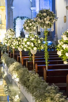 New wedding church alter decorations romantic Ideas Church Wedding Flowers, Church Wedding Decorations, Ceremony Decorations, Wedding Ceremony, Indoor Wedding, Floral Wedding, Bento, Inspiration, Twitter