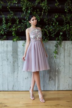 Rochie Eleganta Lavender Lace and Tulle Tulle, Couture, Engagement, Formal Dresses, Collection, Fashion, Lean Body, Lace Up, Dresses For Formal