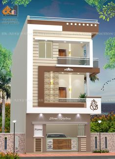 Building Elevation, House Elevation, Front Elevation, Bungalow House Design, House Front Design, Modern House Design, Indian House Plans, My House Plans, 10 Marla House Plan