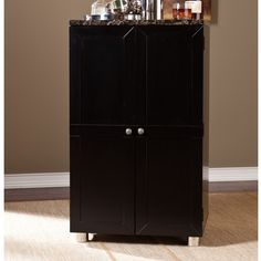 Capri Bar Cabinet with Wine Storage