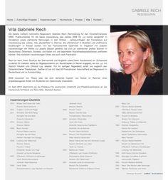 Webdesign für die Opernregisseurin Gabriele Rech - hier die Webseite mit der Vorstellung Ihrer Person: http://gabriele-rech.de/index.php?de_vita. Weitere Info zum Webdesign: http://eyelikeit.com/index.php?de_gabriele-rech-regisseurin