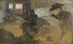 Edouard Vuillard / The first class travel (Le Compartiment de première classe), 1898