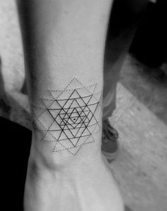 Tattoo • Geometric• Triangle & Dashes • By Dr. Woo •