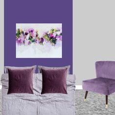 Pantone color of the year 2018 Ultra Violet bedroom interior design decor grey purple colour Dulux Night Jewels 5. Click through to the shop the look.
