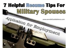 7 Helpful Resume Tips for Military Spouses | pin now, read later