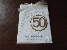 Beautiful 50th Anniversary card by Michelle Lynch