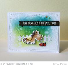 Farm-tastic, Farm Fence Die-namics, Farm-tastic Die-namics, Wonky Stitched Rectangle STAX Die-namics - Donna Mikasa   #mftstamps