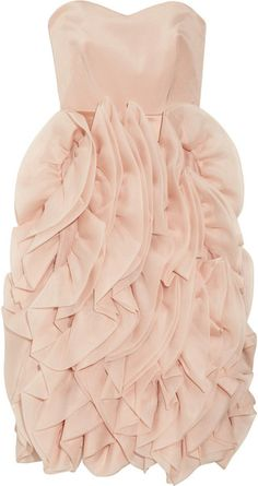 NOTTE BY MARCHESA Ruffled Silk Organza Dress - Lyst