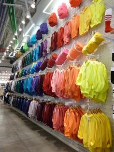 AmericanApparel Hoodie wall in San Diego